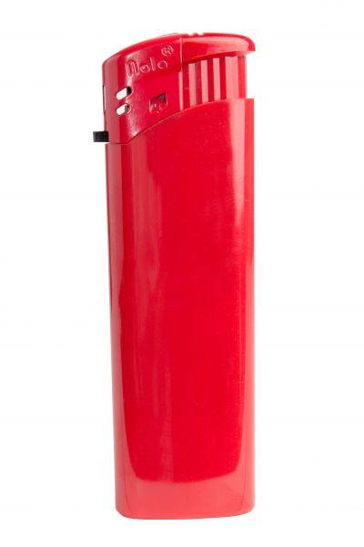 Nola 9 Elektronik Feuerzeug rot nachfüllbar glänzend rot, Kappe und Drücker rot