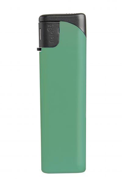 Nola 2 Elektronik Feuerzeug grün nachfüllbar matt grün, Kappe und Drücker schwarz