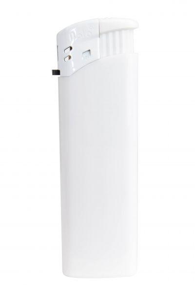 Nola 9 Elektronik Feuerzeug weiß nachfüllbar glänzend weiß, Kappe und Drücker weiß
