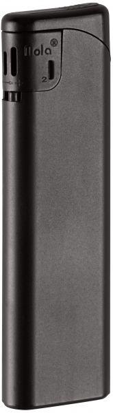 Nola 2 Elektronik Feuerzeug schwarz nachfüllbar matt schwarz, Kappe und Drücker schwarz