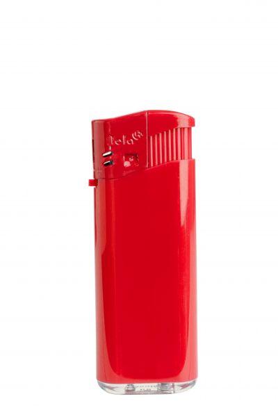 Nola 4 midi Elektronik Feuerzeug rot nachfüllbar glänzend rot, Kappe und Drücker rot