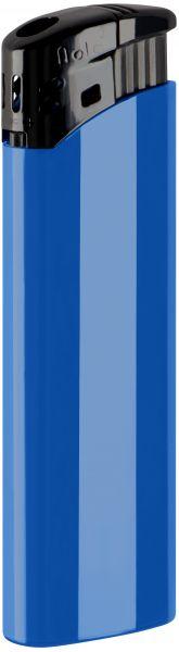 Nola 9 Elektronik Feuerzeug blau nachfüllbar glänzend blau, Kappe und Drücker schwarz