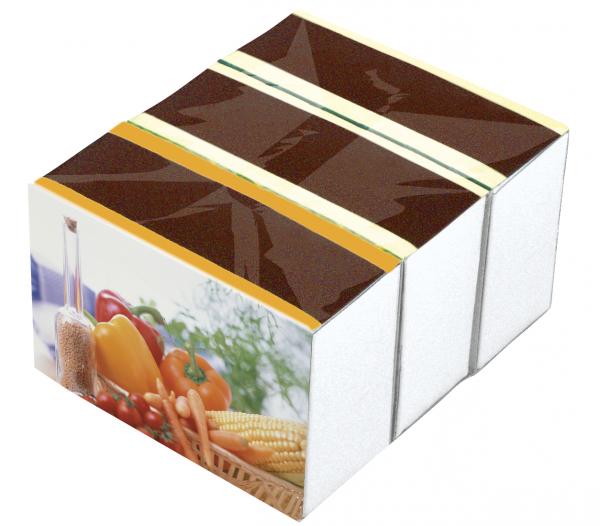 Zündholzschachtel CAREZZA Nostalgie Maß: 78x56x34 mm; Inh. ca. 240 Hölzer; 3er Packung
